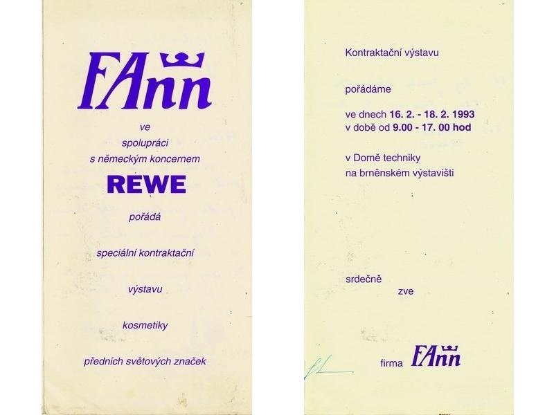 Pozvánka na kontraktační výstavu REWE