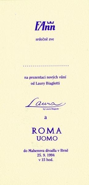 Uvedení nové vůně Laura Biagiotti Laura a Roma Uomo